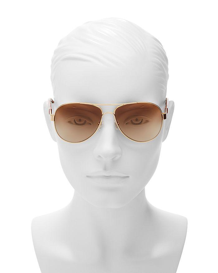 5827ab66777e0 Tory Burch - Women s Classic Stripe Aviator Sunglasses