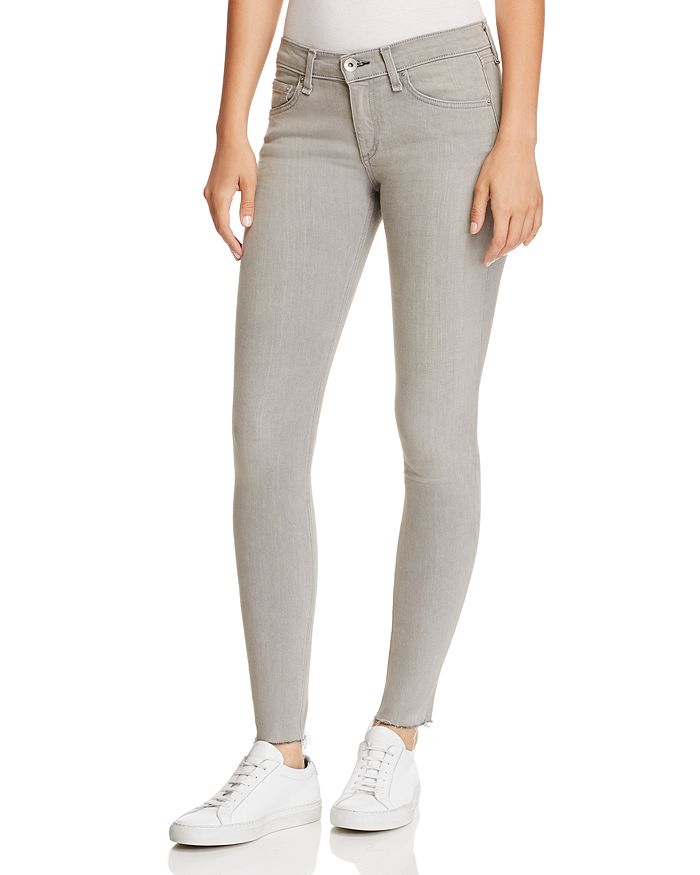 rag & bone/JEAN - Raw-Edge Ankle Skinny Jeans