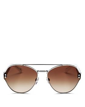 Valentino - Women's Rockstud Brow Bar Round Sunglasses, 60mm