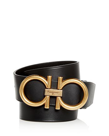 Salvatore Ferragamo - Men's Double Gancini Leather Belt