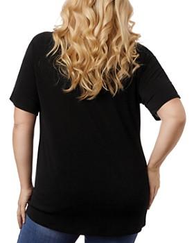 Belldini Plus - Short-Sleeve Pearl-Trim Top