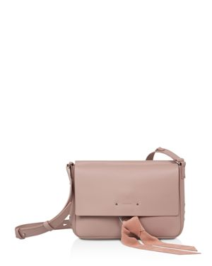 CASSIE LEATHER CROSSBODY BAG - PINK
