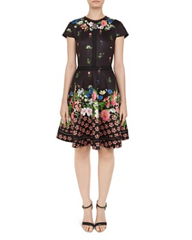 Ted Baker - Daissie Lace-Trimmed Floral Dress