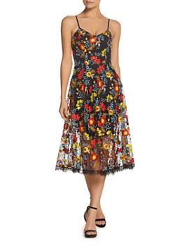 Dress the Population - Uma Embroidered Midi Dress