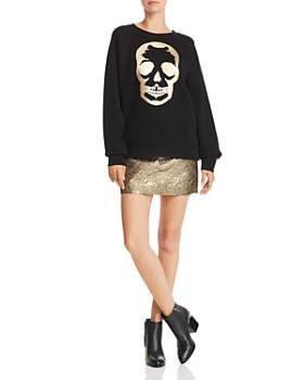 AQUA - Foil Skull Sweatshirt - 100% Exclusive