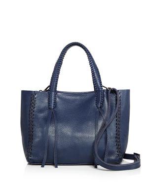 CALLISTA Iconic Mini Leather Tote in Neptune Khol Blue/Gunmetal