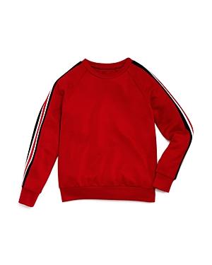 Aqua Girls Athletic Stripe Sweater Big Kid  100 Exclusive