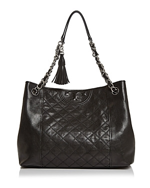 Tory Burch Fleming Medium Distressed Leather Tote