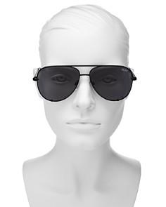 Quay - Women's High Key Polarized Mini Aviator Sunglasses, 53mm