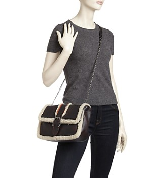 Longchamp - Amazone Bombers Medium Sheepskin Convertible Crossbody