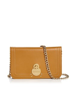 Longchamp - Cavalcade Wallet on Chain Leather Crossbody