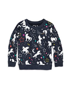 CHASER - Girls' Unicorn Fantasy Raglan Sweatshirt - Little Kid, Big Kid
