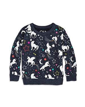 Chaser Girls Unicorn Fantasy Raglan Sweatshirt  Little Kid Big Kid