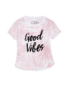 CHASER Girls' Palm-Print Good Vibes Tee - Little Kid, Big Kid - Bloomingdale's_0
