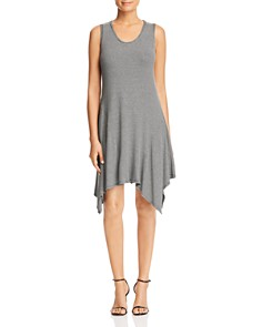 Robert Michaels - Striped Handkerchief-Hem Tank Dress