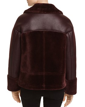 Whistles - Faux Shearling Biker Jacket - 100% Exclusive