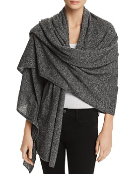 C by Bloomingdale's - Marled Cashmere Travel Wrap - 100% Exclusive