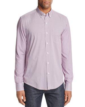 WRK Reworked Multi-Dot Slim Fit Button-Down Shirt in Burgundy Dot