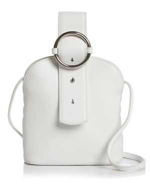 PARISA WANG Addicted Small Leather Crossbody in White/Silver