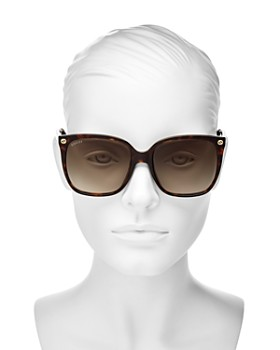 21872836d ... 57mm Gucci - Women's Square Sunglasses, ...
