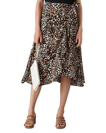 Whistles - Leopard Print Wrap Skirt