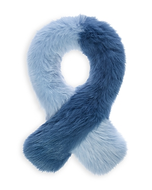 Charlotte Simone POLLY POP COLOR-BLOCK FOX-FUR SCARF