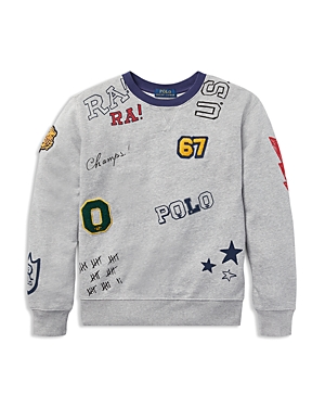 Polo Ralph Lauren Boys' Graphic Cotton Sweatshirt - Big Kid