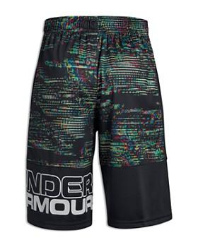 Under Armour - Boys' Stunt Print UPF 30+ Performance Shorts - Big Kid