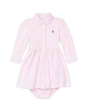Ralph Lauren Girls Striped Mesh Oxford Dress  Bloomers Set  Baby