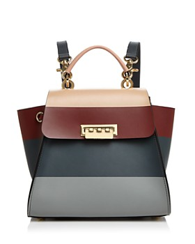 ZAC Zac Posen - Eartha Iconic Stripe Leather Convertible Backpack