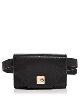 AQUA - Medium Lizard-Print Belt Bag - 100% Exclusive