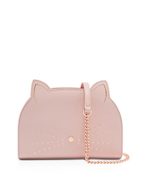 686137531b8b82 Ted Baker - Kirstie Cat Medium Leather Shoulder Bag ...