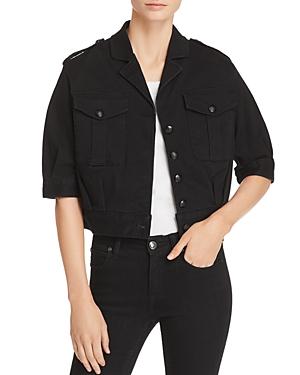 T Tahari Glorie Cropped Denim Jacket