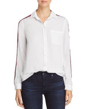 BEACHLUNCHLOUNGE Beachlunchlounge Stripe-Detail Shirt in White