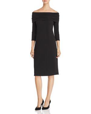 Island Zone Off-The-Shoulder Dress, Black
