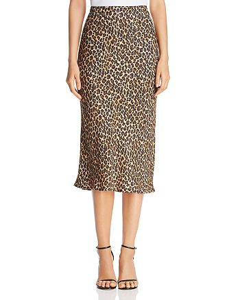 Three Dots - Leopard Pencil Skirt