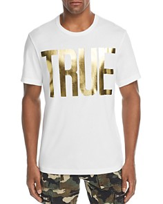 True Religion - Gold Foil Logo Tee
