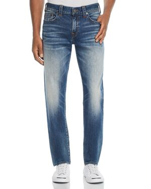 TRUE RELIGION GENO STRAIGHT SLIM FIT JEANS IN JETSET BLUE