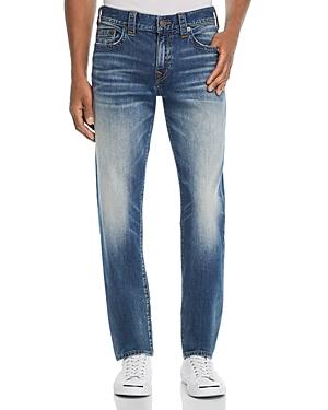 True Religion Geno Straight Slim Fit Jeans in Jetset Blue