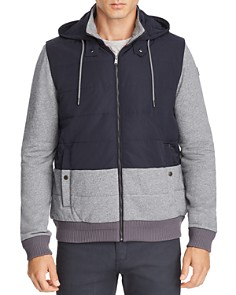 BOSS - Skiles Mixed-Media Quilted Bomber Jacket