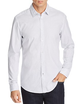 BOSS - Lukas Geometric-Print Regular Fit Shirt