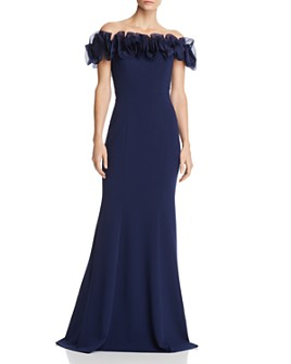 Aidan Mattox - Off-the-Shoulder Ruffled Gown