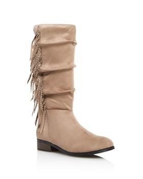 STEVE MADDEN - Girls' JFringely Slouch Boots - Little Kid, Big Kid