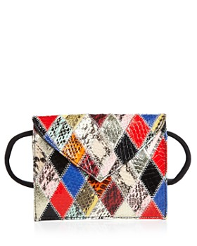 Elizabeth and James - Penpal Patchwork Medium Leather Belt Bag