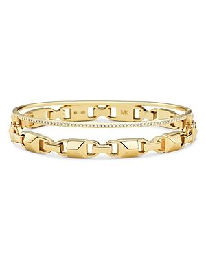 376c206254b0e Michael Kors Pave Link Hinge Bangle Bracelet In 14K Gold-Plated Sterling  Silver