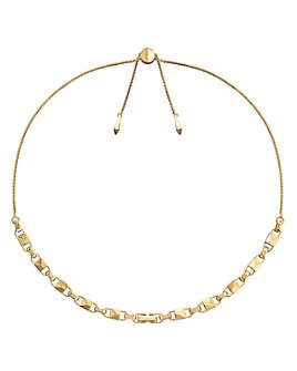 Michael Kors - Mercer Link Sterling Silver Slider Necklace in 14K Gold-Plated Sterling Silver, 14K Rose Gold-Plated Sterling Silver or Solid Sterling Silver, 16""
