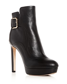 Jimmy Choo - Women's Britney 115 Leather High-Heel Platform Booties