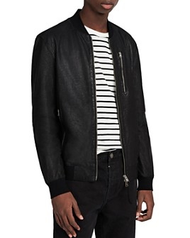 ALLSAINTS - Kino Leather Regular Fit Bomber Jacket