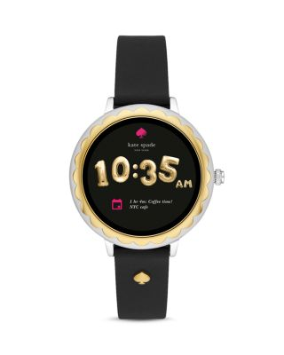 Scalloped Touchscreen Black Strap Smartwatch, 41mm by Kate Spade New York