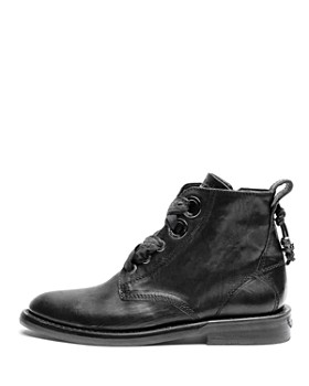 Zadig & Voltaire - Women's Laureen Roma Round Toe Leather Low-Heel Booties